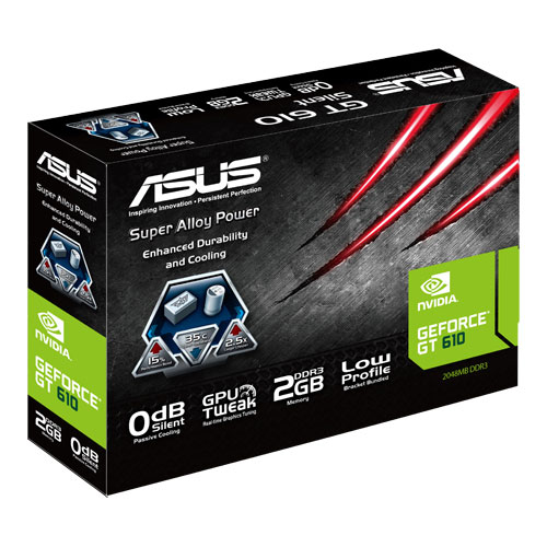 Product datasheet ASUS GT610-SL-2GD3-L graphics card NVIDIA GeForce GT 610  2 GB GDDR3 (GT610-SL-2GD3-L)