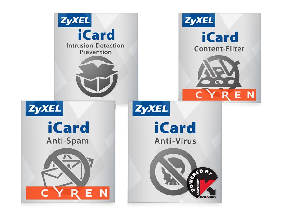 ZYXEL E-iCard 1 YR Content Filtering/Anti-Spam/Kaspersky Anti-Virus/IDP License for USG210