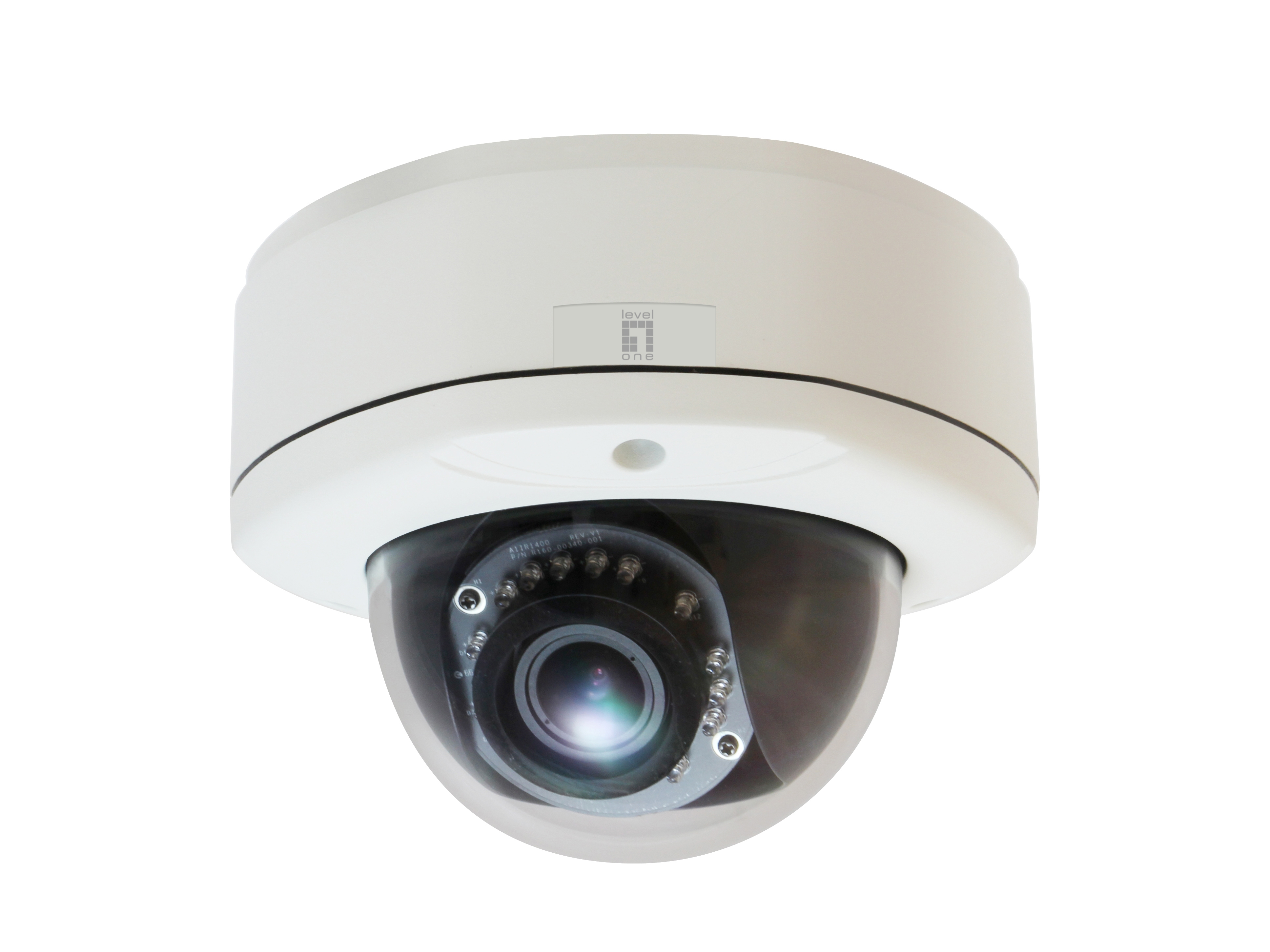 LEVEL ONE FCS-3055 Fixed Dome Network Camera 3 Megapixel Outdoor PoE 802.3af Day and Night IR LEDs WDR