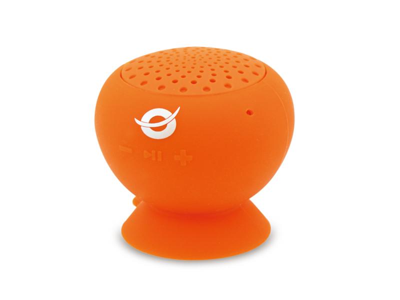 Conceptronic Wireless waterproof Suction Speaker orange