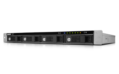 QNAP TS-451U-SP 1G NAS Rack 4-Bay Intel DualCore Celeron 2.41GHz 1GB RAM 2 Gb LAN 4xUSB3.0 1xUSB2.0 ohne RailKit