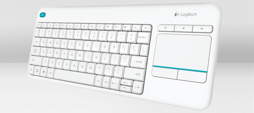 LOGITECH K400 Plus Wireless Touch Keyboard white (DE)