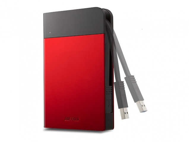 BUFFALO MiniStation Extreme Water&Dust Resistant USB 3.0 6,4cm 2,5Zoll 1TB  Portable HDD Red