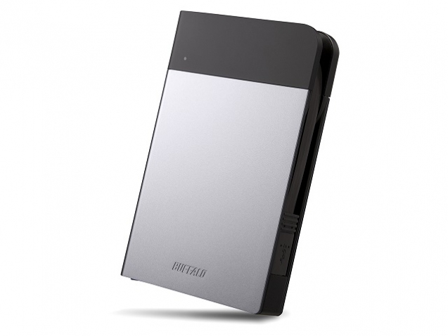 BUFFALO MiniStation Extreme Water&Dust Resistant USB 3.0 6,4cm 2,5Zoll 1TB  Portable HDD Silver