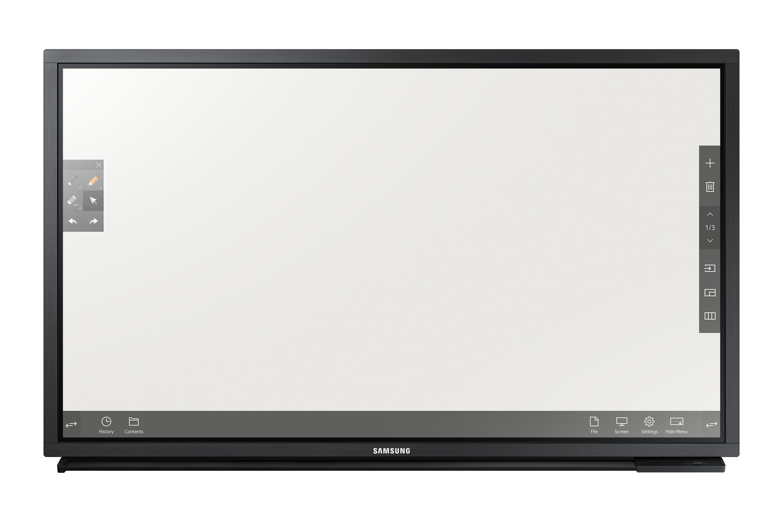 SAMSUNG DM82E-BR 208,28cm 82Zoll LFD e-Board 10-Punkt Multi-Touch 16:9 1920x1080 430cd/m2 5000:1 8ms S-PVA 24/7 SoC schwarz