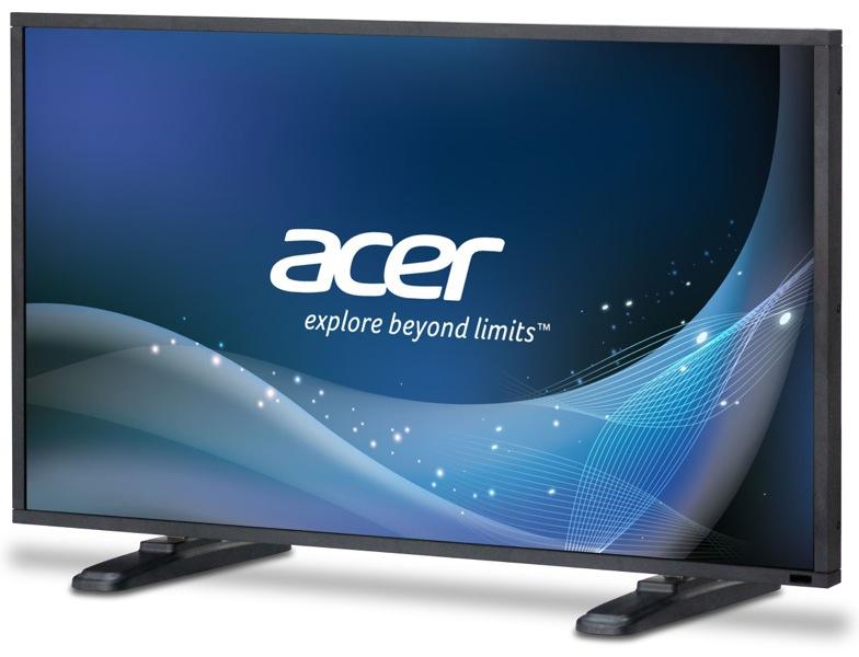 ACER DV550bmidp 139,7cm 55Zoll TFT LED 1920x1080 120Hz 4000:1 450cd/m  12ms VGA DVI HDMI DP Composite Component speaker schwarz