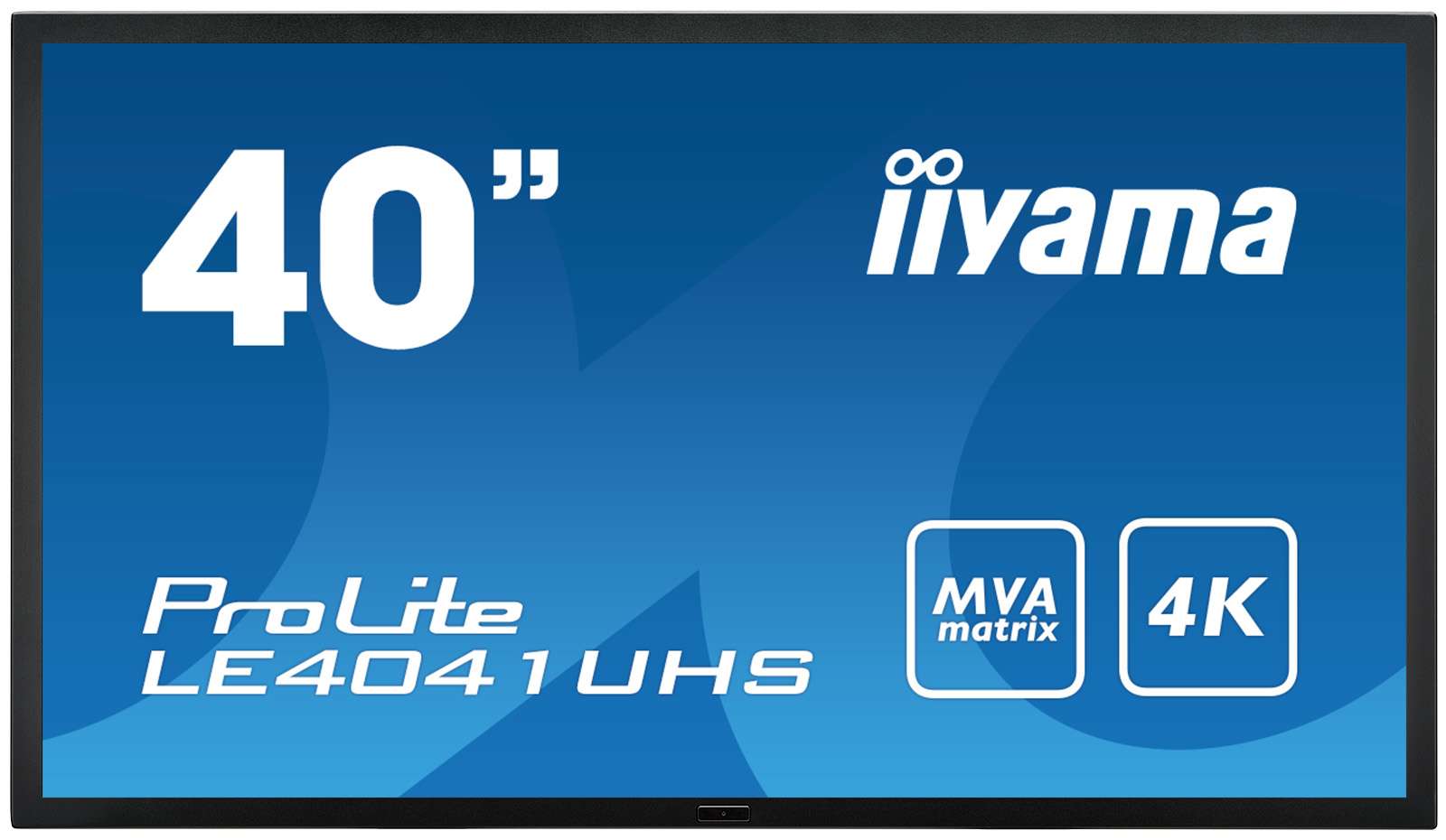 IIYAMA ProLite LE4041UHS-B1 101,60cm 40Zoll MVA LED 4K 3840x2160 4ms 350cd/m²5000:1 RS232IN/OUT 2xHDMI DisplayPortIN/OUT DVI VGA