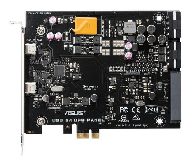 ASUS USB 3.1 UPD PANEL 1x SATA Express 2x Molex power plug 2x USB 3.1