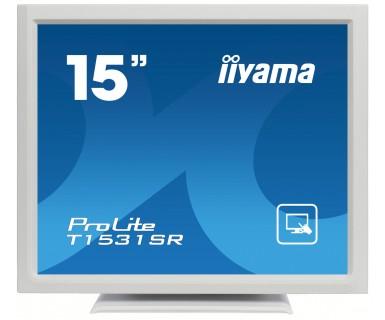 IIYAMA T1531SR-W3 38cm 15Zoll Touch resistiv 1024x768 8ms 350cd/m² VGA DVI USB(Touch) neigbar um 90 Grad weiss