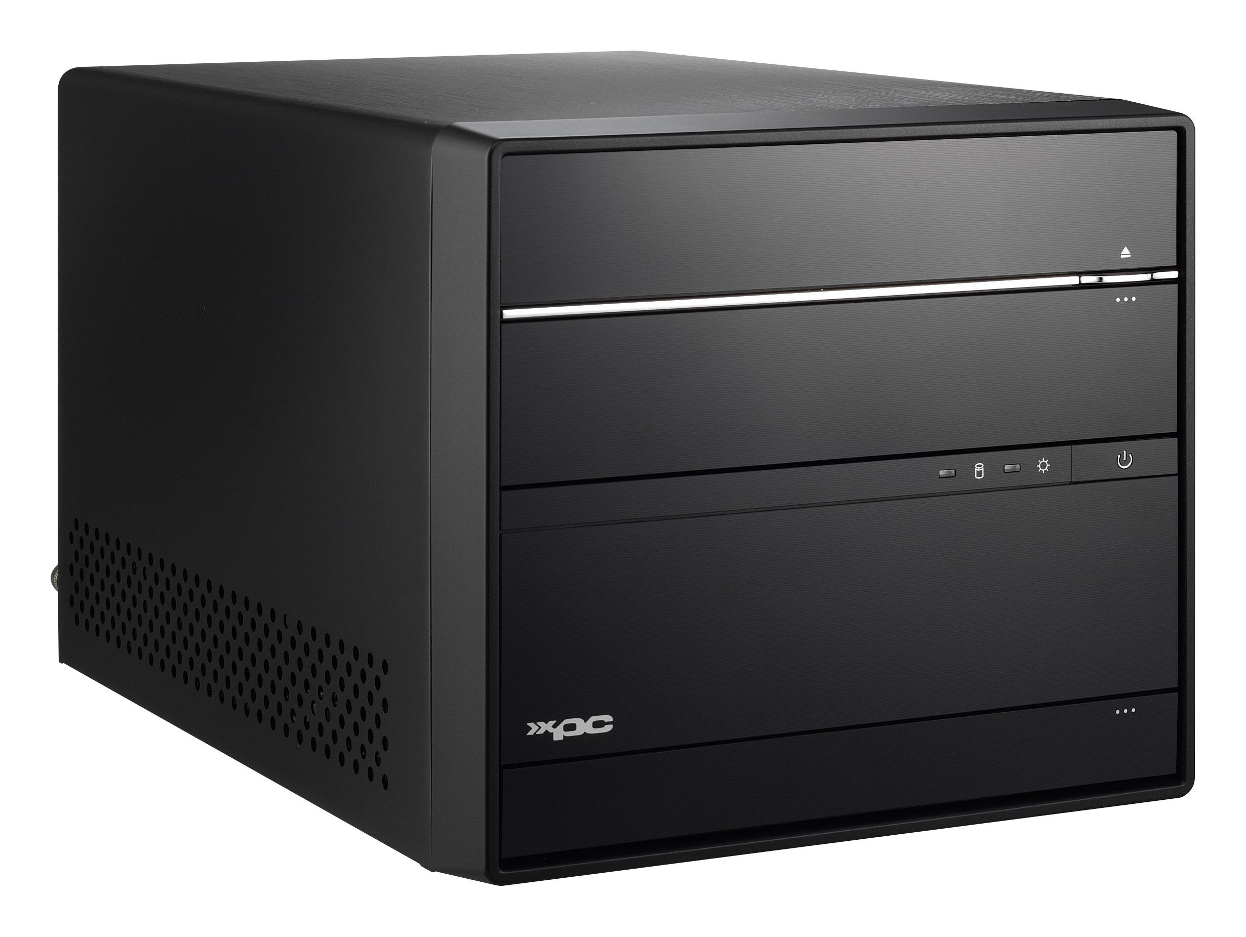 SHUTTLE Barebone XPC cube SH170R6 Sockel 1151 i3/i5/i7(Skylake) 4xDDR4 4XSATA 1XeSATA Intel H170 8xUSB3 2xUSB2  HDMI 2DP schwarz