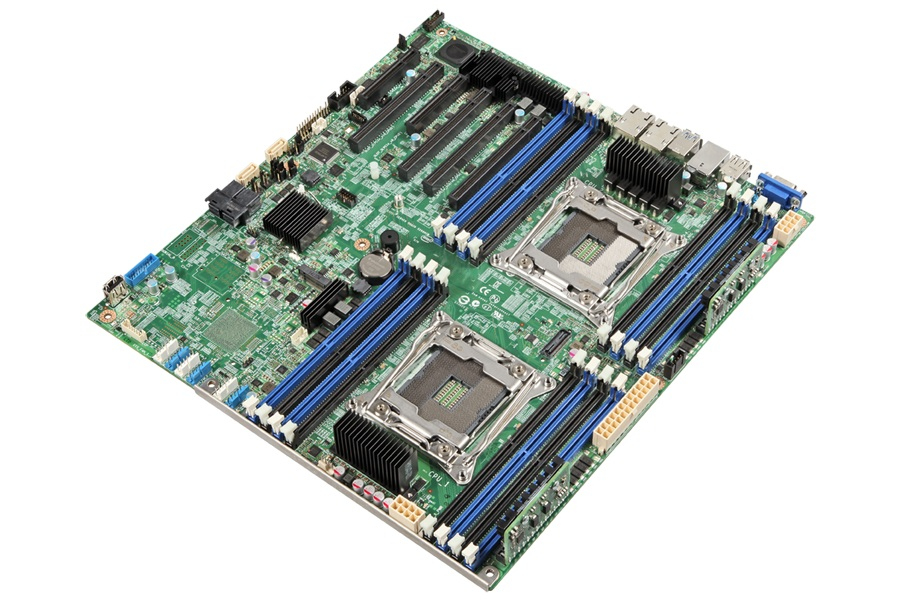 INTEL Server Board DBS2600CWTR supporting two Intel Xeon processor E5-2600v3 family up to 145W 16DIMMs and two 10-Gb ethernet ports