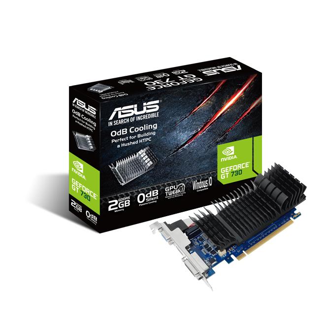ASUS GeForce GT 730 Silent 2GB DDR5 1x Native Dual-link DVI-D HDMI passiv