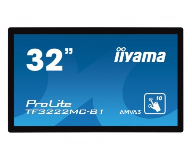 IIYAMA ProLite TF3222MC-B1 80cm 31,5Zoll 12 Point Multitouch AMVA3 Edge LED 1080x1920 8ms 425cd/m² 3000:1 VGA DVI schwarz