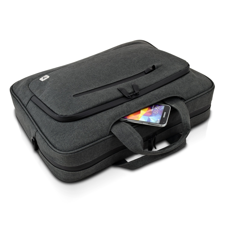 V7 CTPX6-1E 14.1Zoll Aktenkoffer Grau Notebooktasche