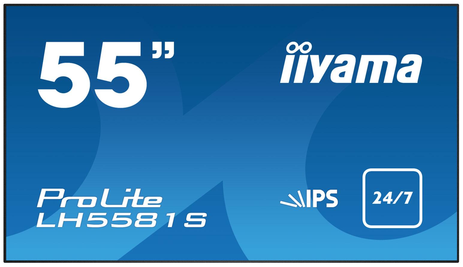 IIYAMA Prolite LH5581S-B1 138,8cm 54,6Zoll IPS LED 1920x1080 500cd/m² 8ms Speaker 2x10W VGA DVI-D 2xHDMI DisplayPort Schwarz