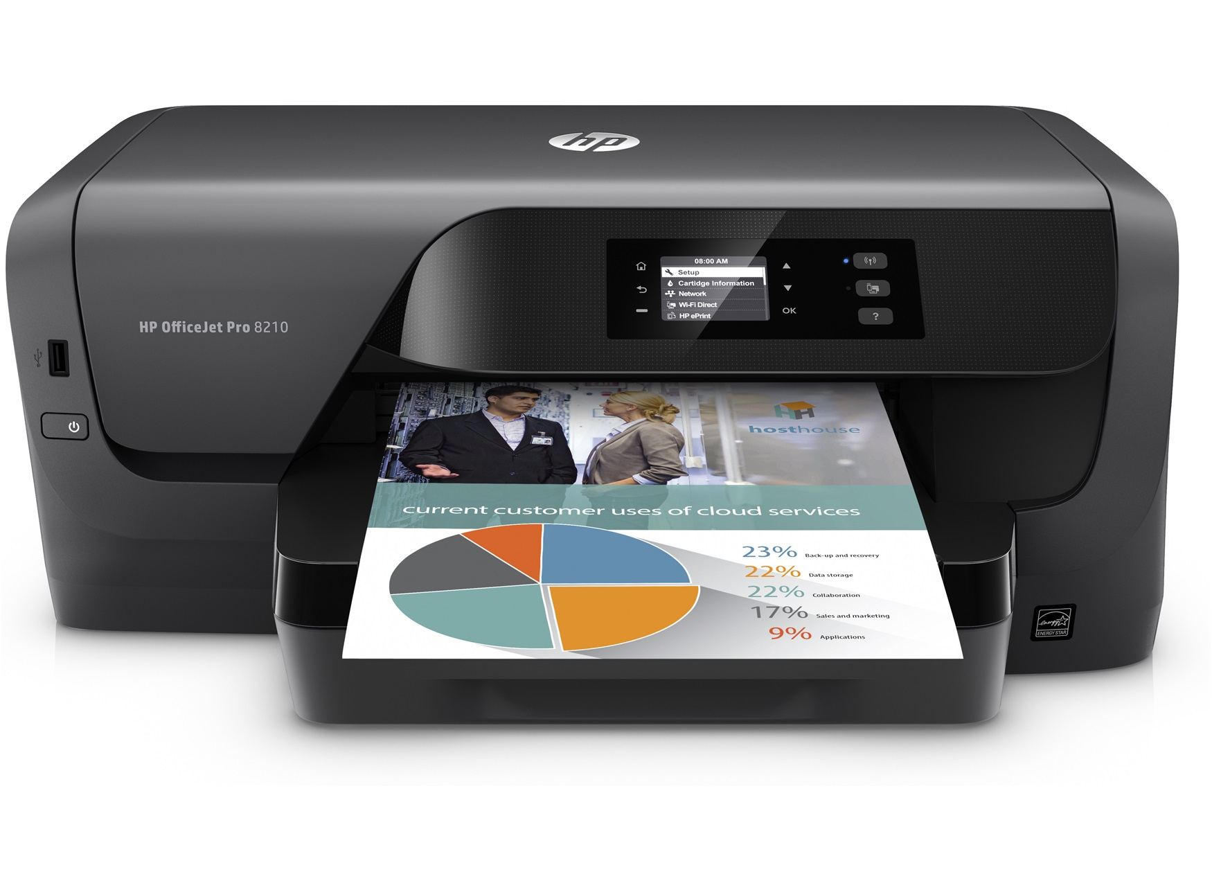 HP Officejet Pro 8210 Colour 2400 x 1200DPI A4 Wi-Fi inkjet printer