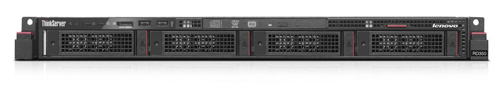 LENOVO DCG ThinkServer RD350 Intel Xeon E5-2603V4 1x16GB DDR4 noHDD 4x8,9cm 3,5Zoll HS SAS/SATA DVDRW Raid 520i TS