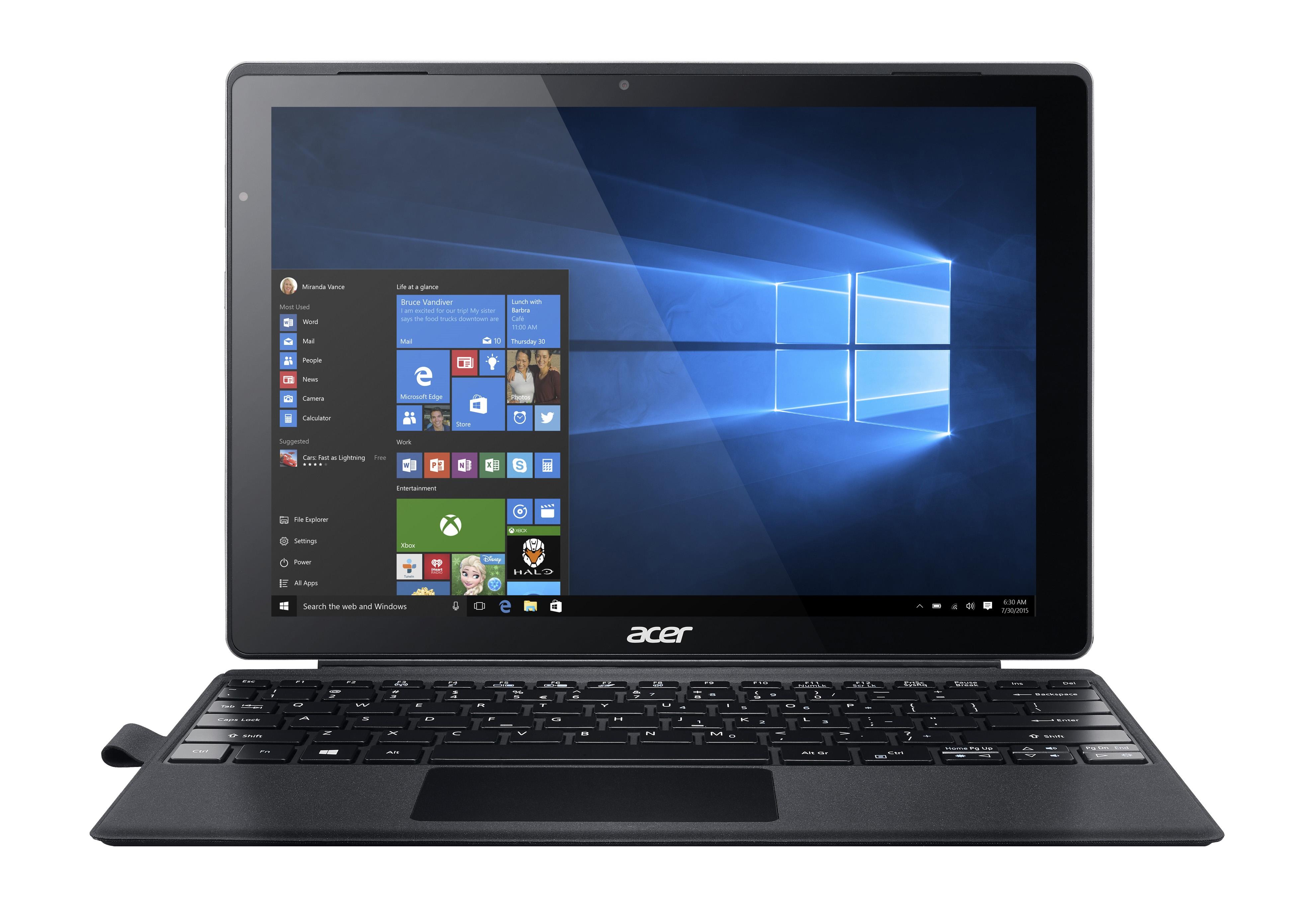 ACER Switch Alpha 12 SA5-271P-77ST Silver Core i7-6500U 30,5cm 12Zoll IPS QHD Touch 8GB 512GB SSD Intel HD 520 Win10 PRO inkl. Keyb.