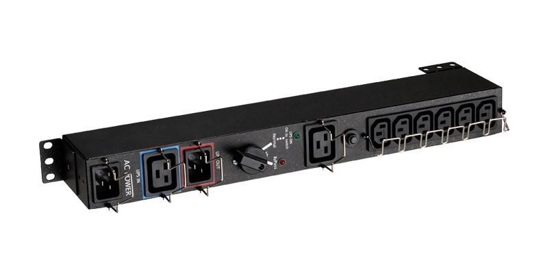 EATON HotSwap MBP 6 IEC up to 3kVA, Eingang C19/C20, Ausgang 6x IEC (C14)