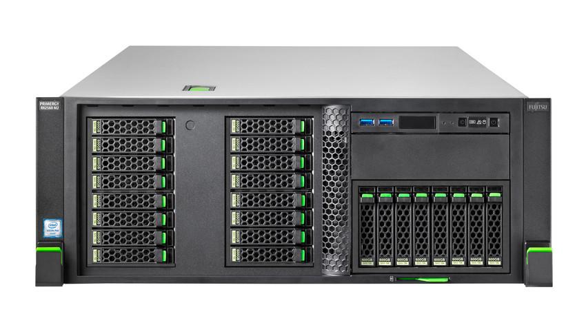 FUJITSU PRIMERGY RX2560 M2 Xeon E5-2620v4 1x8GB 1Rx4 DDR4-2400 R ECC w/o SFF HDD DVD-RW CP400i LAN 2x1Gb RMK ATD 2x 450W SV 3J VOS