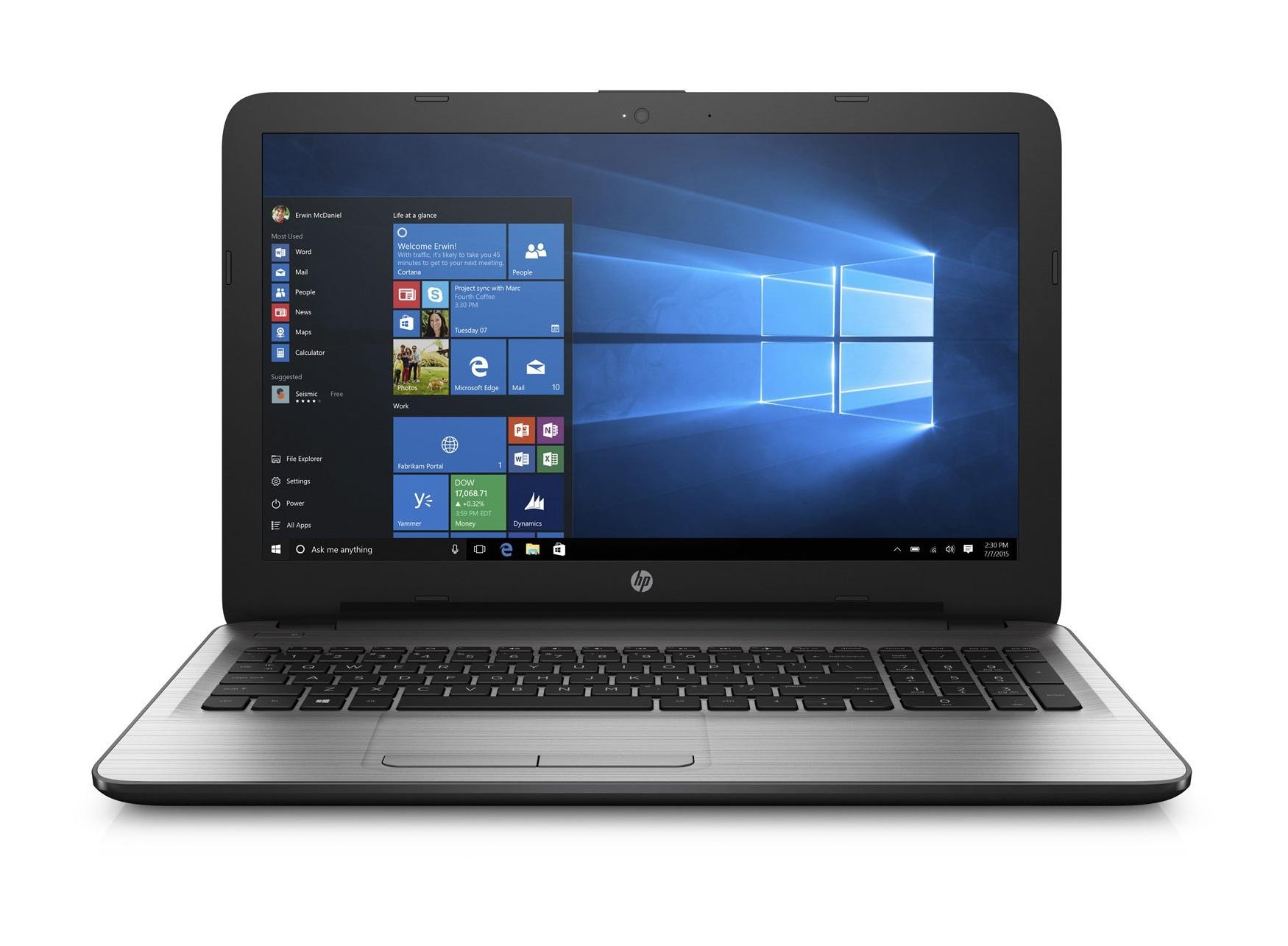 HP 250 G5 SP Intel Core i3-5005U 39,6cm 15,6Zoll FHD AG UMA 1x4GB 500GB/HDD DVDRW WLAN BT W7PRO64+W10PRO64 2J. Gar. (DE)