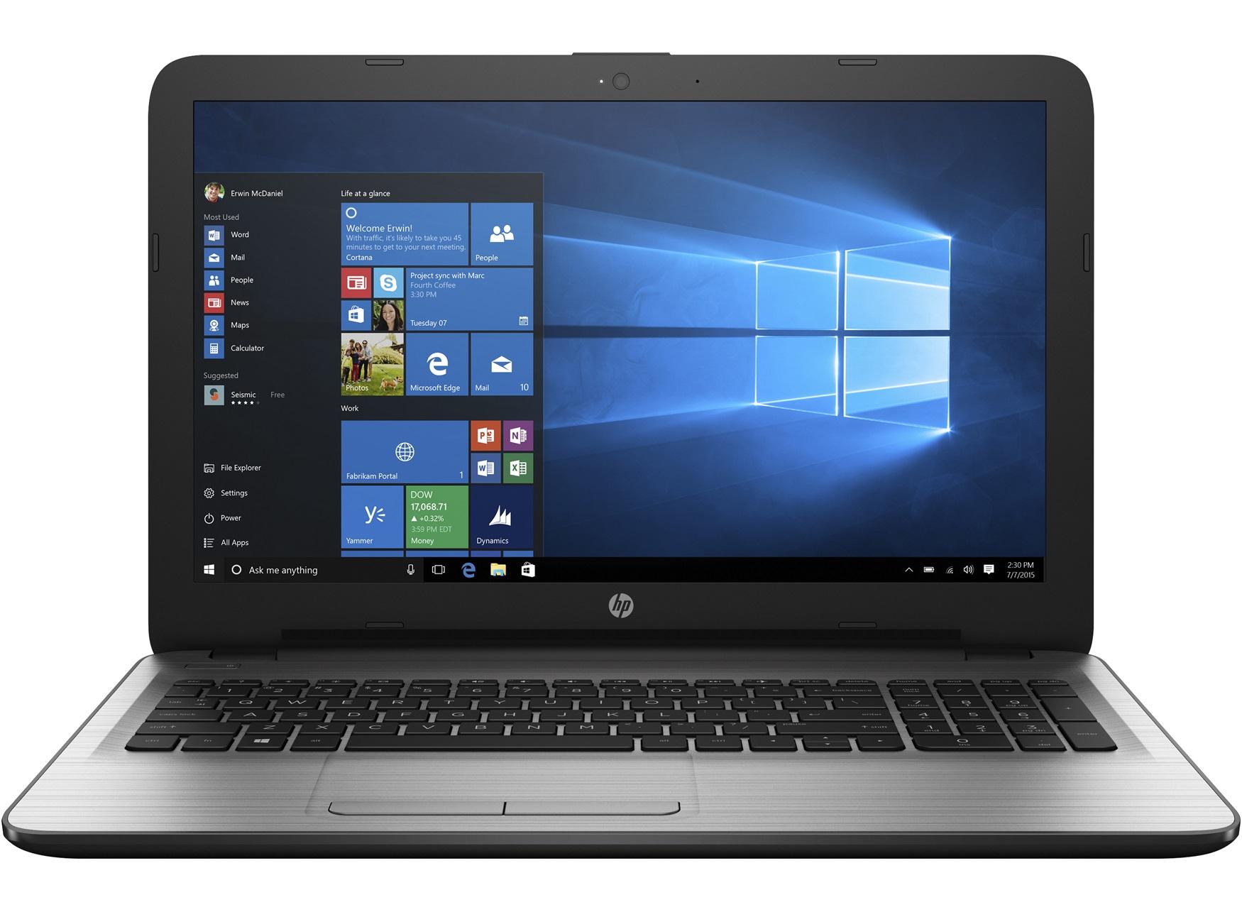 HP 255 G5 SP AMD A6-7310 39,6cm 15,6Zoll FHD AG UMA 1x4GB 1TB/HDD DVDRW WLAN BT W7PRO64+W10PRO64bit 2J. Gar. (DE)