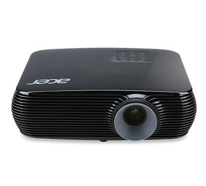 ACER P1386W DLP Projektor 3400 ANSI Lumen WXGA 1280x800 3D ready 20.000:1 HDMI/MHL D-Sub Composite Audio schwarz