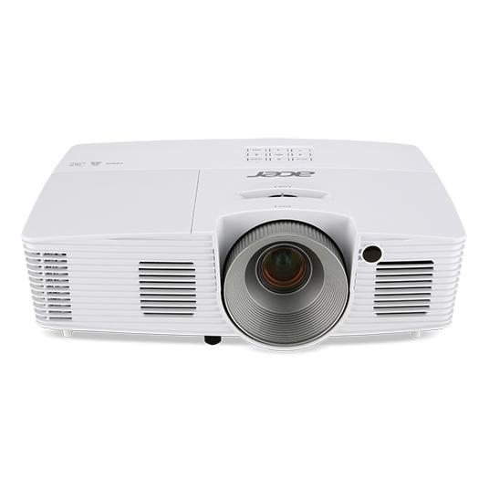 ACER X125H DLP Projektor 3300 ANSI Lumen XGA 1024x768 3D ready 20.000:1 HDMI D-Sub Audio USB B weiss