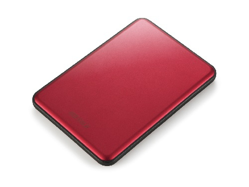 BUFFALO MiniStation Slim 8.8mm thick 1TB 6,4cm 2,5Zoll Mac-Formatted USB3.0 Rot