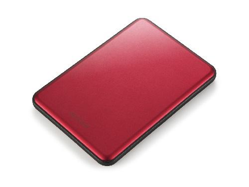 BUFFALO MiniStation Slim 8.8mm thick 2TB 6,4cm 2,5Zoll Mac-Formatted USB3.0 Rot