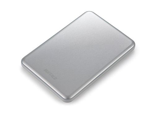 BUFFALO MiniStation Slim 8.8mm thick 2TB 6,4cm 2,5Zoll Mac-Formatted USB3.0 Silber