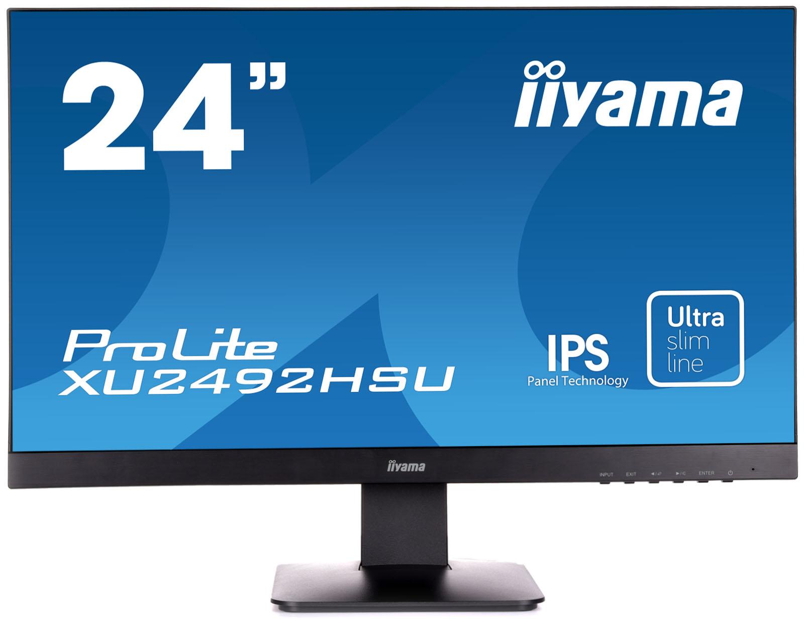IIYAMA ProLite XU2492HSU-B1 60,5cm 23,8 Zoll IPS LED 1920x1080 5000000:1 250cd/m² HDMI DisplayPort Schwarz Speaker