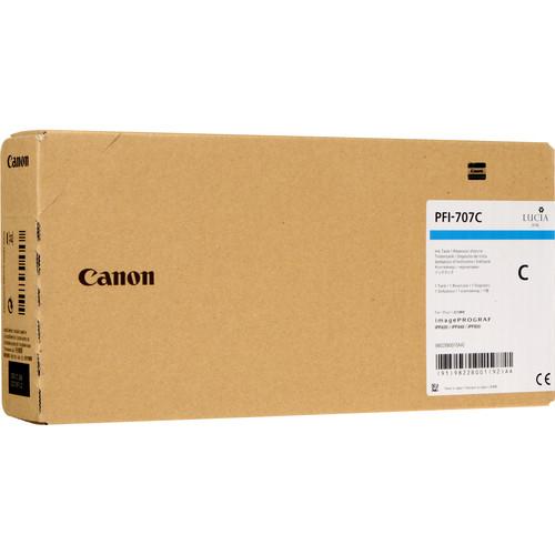 CANON PFI-707 C Tinte cyan Standardkapazität 700ml 1er-Pack