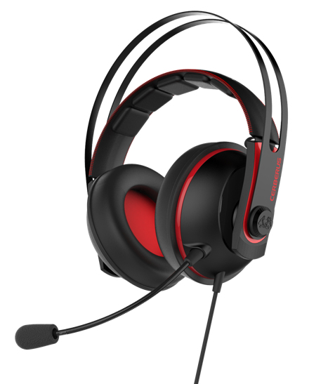Headset 3.5mm Asus Cerberus V2 red