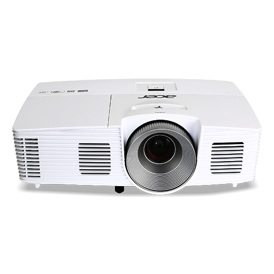 ACER H7850 DLP Projektor 3000 ANSI Lumen 3D ready 4K UHD 3.840x2.160 HDMI2.0  HDMI1.4a VGA frame interpolation HDR Unterstuetzung