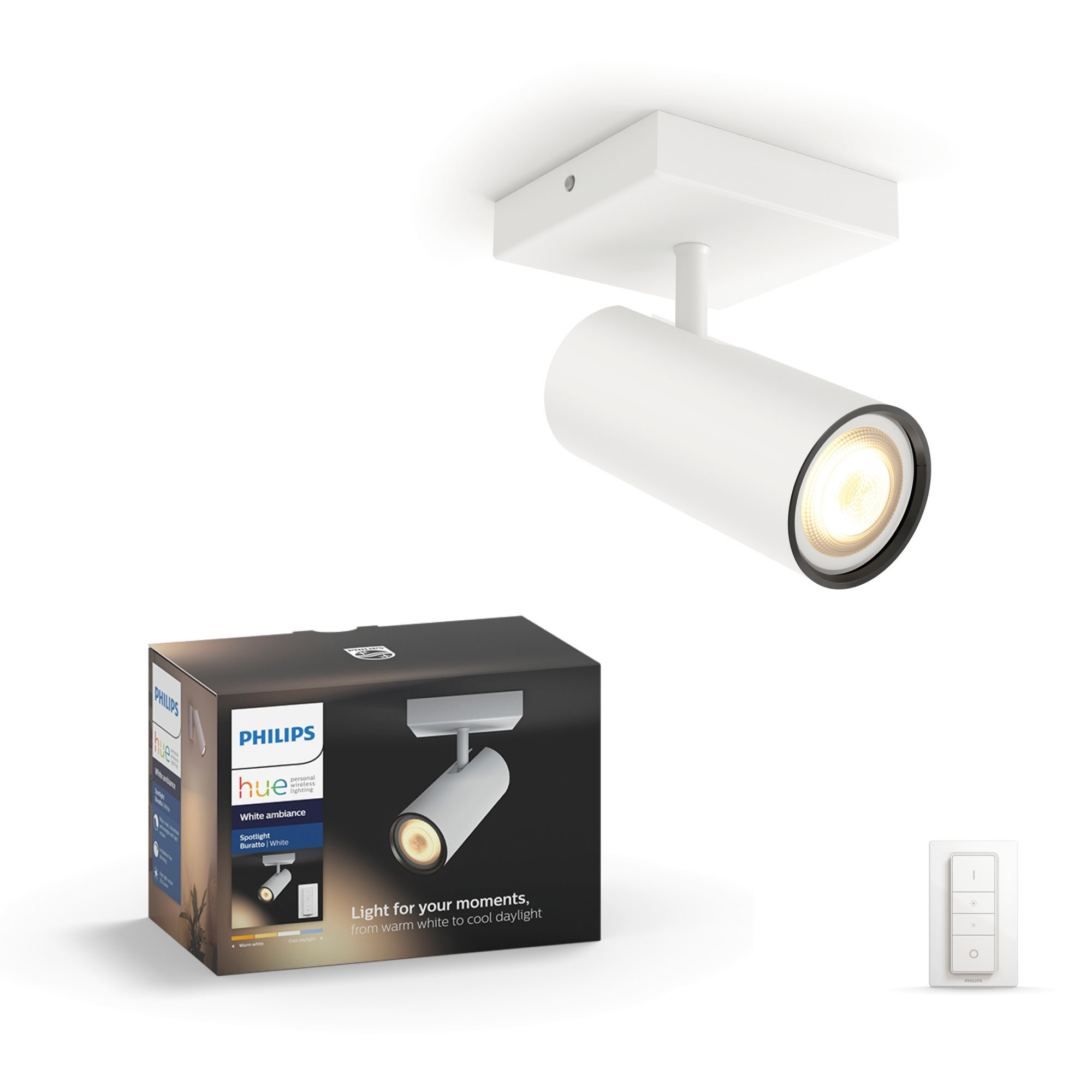 Philips Hue Buratto LED 1flg. Spot weiß