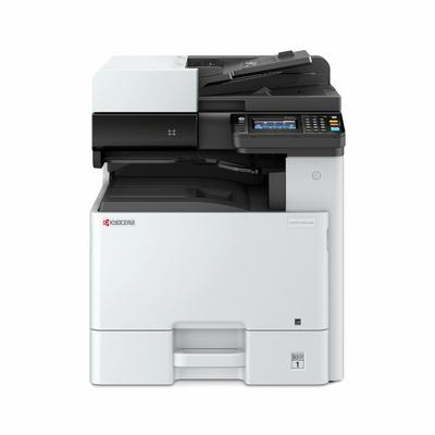 Kyocera Ecosys M8124cidn - Laser-Multifunktionsdrucker - Farbe - Kopierer/Drucker/Scanner - 1200 x 1200 dpi Druckauflösung - Duplexdruck, Automatisch - 24 Seiten/Min. Mono/24 ppm Farbdruck - Touchscreen - 600 dpi Scanauflösung - 600 Blatt Papierzufuhr - Gigabit Ethernet - USB