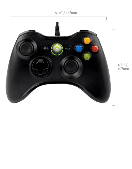 MS Xbox 360 Common Controller for Windows USB black