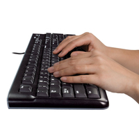 Logitech Desktop MK120, US USB QWERTY US International Zwart toetsenbord