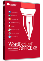 Corel WordPerfect Office X8 Professional 1user(s) Multilingual