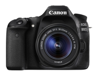 Canon EOS 80D + EF-S 18-55mm f/3.5-5.6 IS STM SLR Camera Kit 24.2MP CMOS 6000 x 4000pixels Black