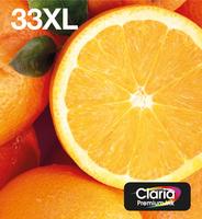 Epson 33XL oranges 8.9ml cmypk, 12.2ml bk 33xl multipack: 5x XL: zwart, geel, cyaan, magenta, fotozwart voor expression home xp-635, 830 expression premium xp-530, 540, 630, 635, 640, 645, 830, 900