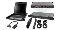 "APC 2x1x16 IP KVM w/ 17"" Rack LCD & USB VM Server Module Bundle 1U Black KVM switch"
