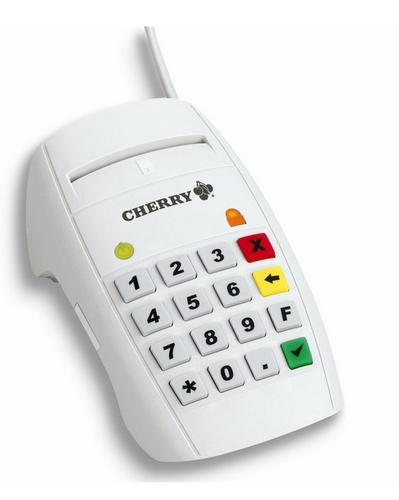 Cherry MKT+ Terminal ST-2052 Blanc lecteur de carte mémoire