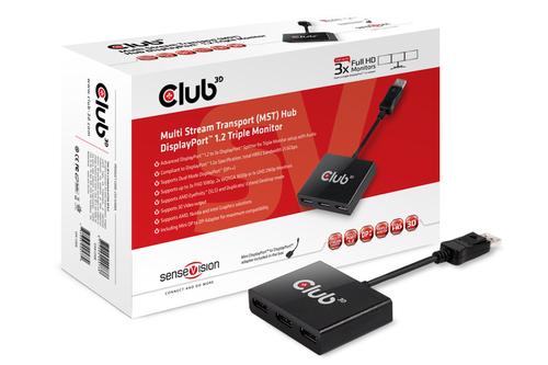 CLUB3D SenseVision MST Hub DisplayPort™ 1.2 Tripple Monitor