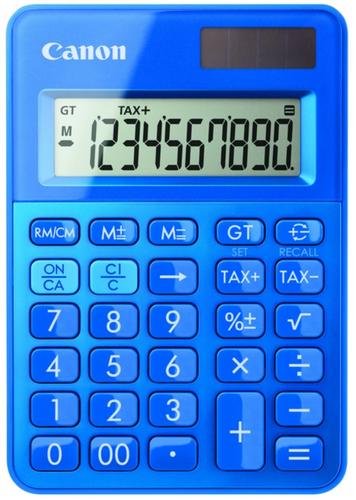 Canon LS-100K Bureau Calculatrice basique Bleu