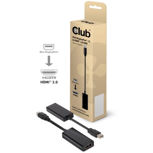 CLUB3D CAC-1170 Mini DisplayPort 1.2 HDMI 2.0 Noir adaptateur et connecteur de câbles