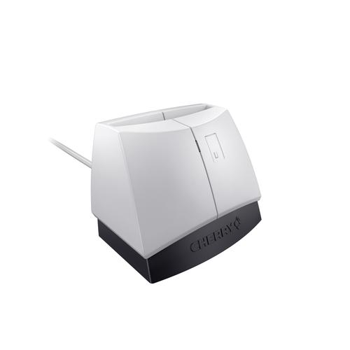 Cherry SmartTerminal ST-1144 Intérieur USB 2.0 Noir, Gris lecteur de cartes à puce