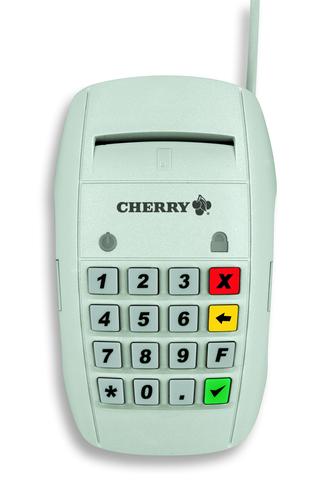 Cherry ST-2000U Intérieur USB 2.0 Blanc lecteur de cartes à puce