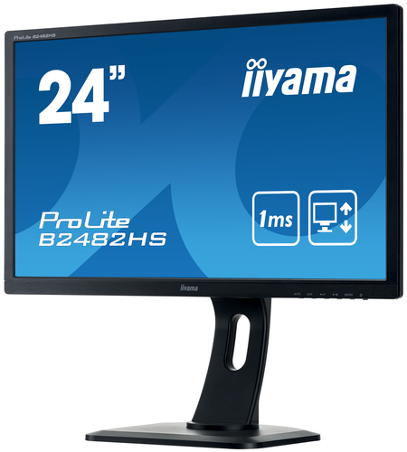 iiyama ProLite B2482HS-B1 24Zoll Full HD LED Matt Flach Schwarz Computerbildschirm